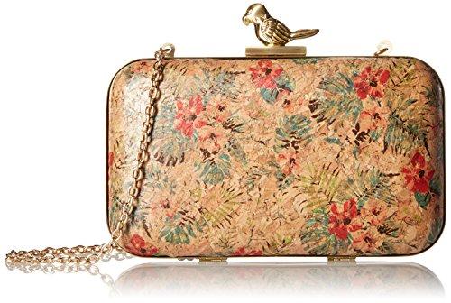 la-regale-floral-cork-minaudiere-w-parrot-closure-clutch-tropical-one-size