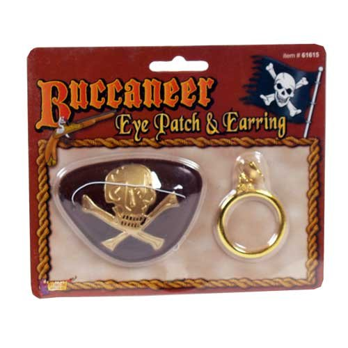 Forum Novelties Buccaneer Eye Patch and Earring