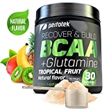 Perfotek BCAA + GLUTAMINE Amino Acids Powder - Tropical Fruit Natural Protein Mix Drink for Muscles - 30 servings