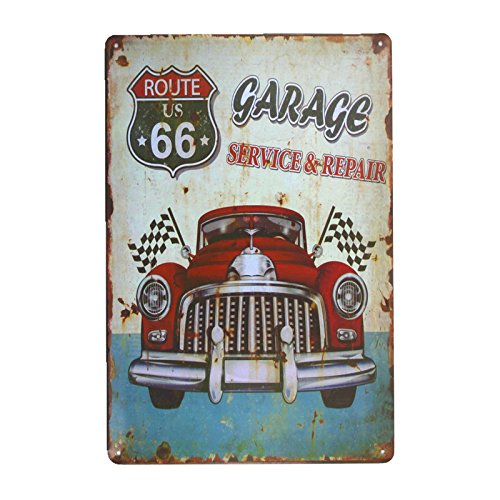 Repair Service Tin Sign (DL-Garage service repair metal Sign shabby chic man cave posters vintage garage wall decor)