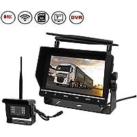 Eway Truck Trailer RV Pickup Truck Vans Super Heavy Duty Wireless Backup Rear View Reverse Camera KIT With DVR 8GB SD Card