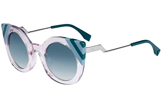 f9c4d5a53b Image Unavailable. Image not available for. Color  Fendi FF0240 S  Sunglasses Pink w Green Gradient Lens ...