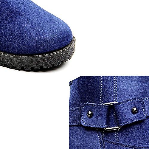Da Scarpe Calde Calde Donna Cotone In Delle Casuali Peluche In Più blue Scarpe TwAqS
