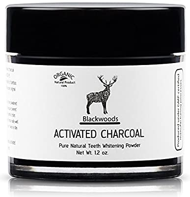 Blackwoods - Eco Pure Natural Japanese Teeth Whitener Bamboo Black Charcoal Powder - Activated Charcoal Teeth Whitening Powder - Organic/1.2 oz