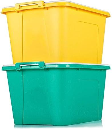 Caja almacenaje Gran caja de plástico caja de almacenamiento de juguetes de las misceláneas de la caja de almacenamiento Caja de almacenamiento de ropa (35L-58L-68L) Uno cajas almacenaje plastico: Amazon.es: Hogar