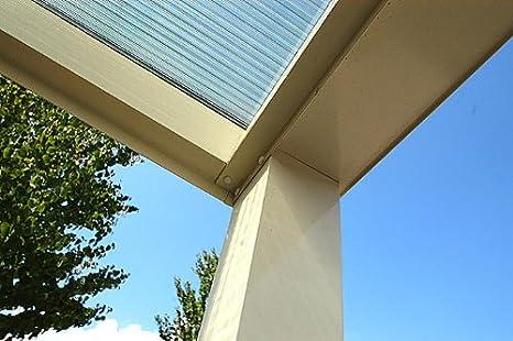 Dosel de aluminio para terraza, 600 x 400 cm, Blanco, listo para montar, cubierta de aluminio para Terraza: Amazon.es: Jardín