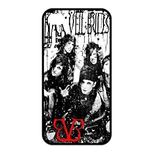 Black Veil Brides Pattern Design Solid Rubber Customized Cover Case for iPhone 4 4s 4s-linda133