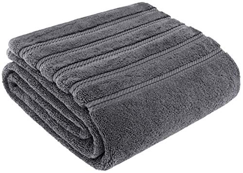 Premium, Luxury Hotel & Spa Quality, 35x70 Extra Large Jumbo Size Bath Towel, Bath Sheet Cotton for Maximum Softness and Absorbency by American Soft Linen, [Worth $34.95] (Grey) by AmericanSoftLinen