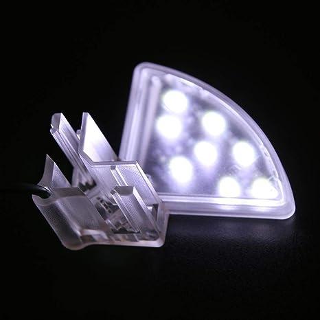 Ahomi Acuario Pecera Clip Luz Mini Impermeable Acuario Luz Acuario Acuático Plantas Crecimiento Lámpara