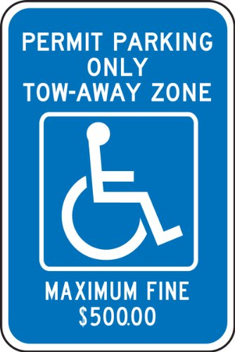 Accuform FRA195RA Engineer-Grade Reflective Aluminum Handicapped Parking Sign (Georgia-Metro Atlanta), Legend