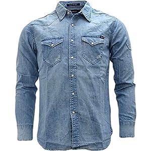 Replay Light Blue Western Style Denim Shirt – M4981-010