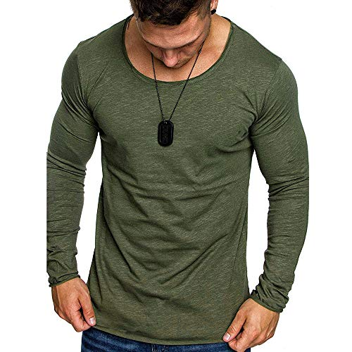 ZYEE Clearance Sale! Men's Blouse Fashion Autumn Long Sleeve Casual Solid Pure Color Slim Shirt Top Blouse