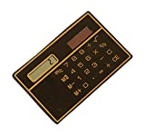 Mini Card Type Ultra-Thin Solar Calculator Portable, White or Black Random
