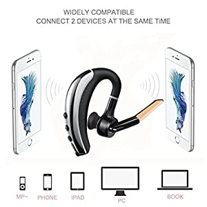 Strugglesz Bluetooth Headset with Carrying Case,V4.1 Hands Free Wireless Business Bluetooth In-ear Earpiece Lightweight Earbuds with Mic for iPhone and Android Cell Phones