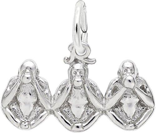 (Rembrandt Three Monkeys Charm - Metal - 14K White Gold)