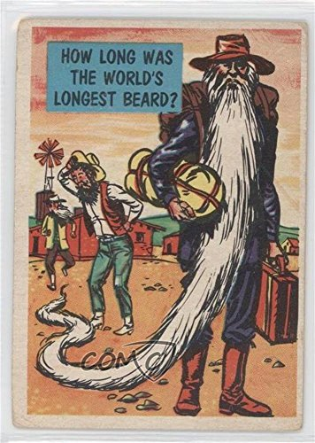 How long was the world's longest beard? COMC REVIEWED Poor to Fair (Trading Card) 1957 Topps Isolation Booth - [Base] (Worlds Longest Beard)