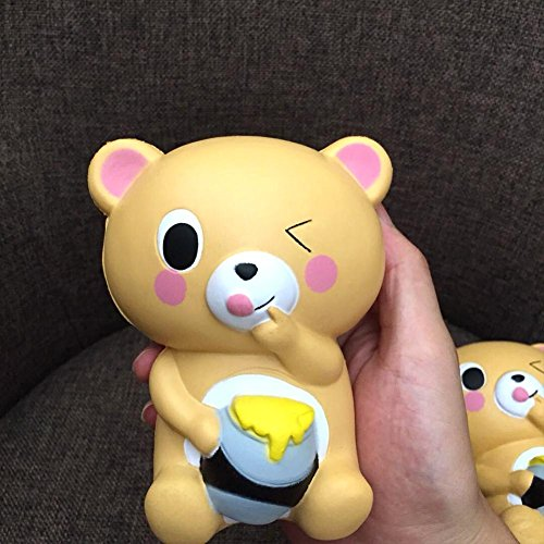 Slow Rising Toy,Slow Rebound Squishy Toy PU Simulation Bread Simulation Cake Honey Pot Bear Stress Relief Toys for Kids Adults