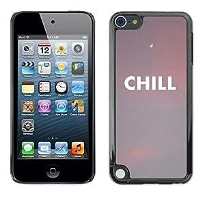 [Neutron-Star] Snap-on Series Teléfono Carcasa Funda Case Caso para Apple iPod Touch 5 [Nubes Sunset Nubes texto Peach]