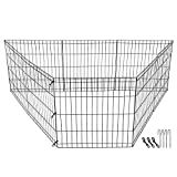ZENY Puppy Pet Playpen 8 Panel Indoor Outdoor Metal Portable Folding Animal Exercise Dog Fence