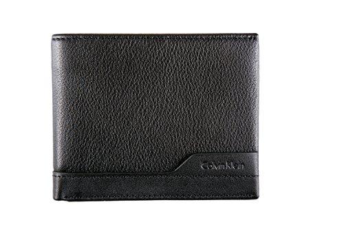 d8ead35028ee7 CALVIN KLEIN - Herren geldbörse norman slimfold 6cc schwarz  Amazon.de   Bekleidung