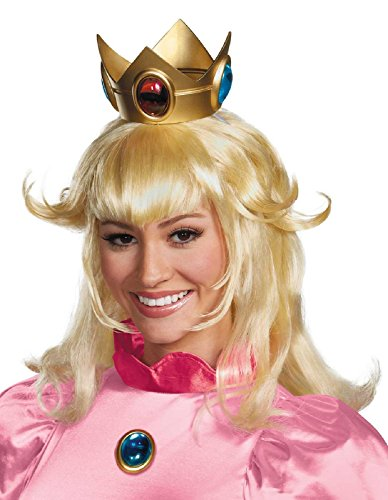 Princess Wigs For Adults (Disguise Women's Nintendo Super Mario Bros.Princess Peach Adult Costume Wig, Blonde, One Size)