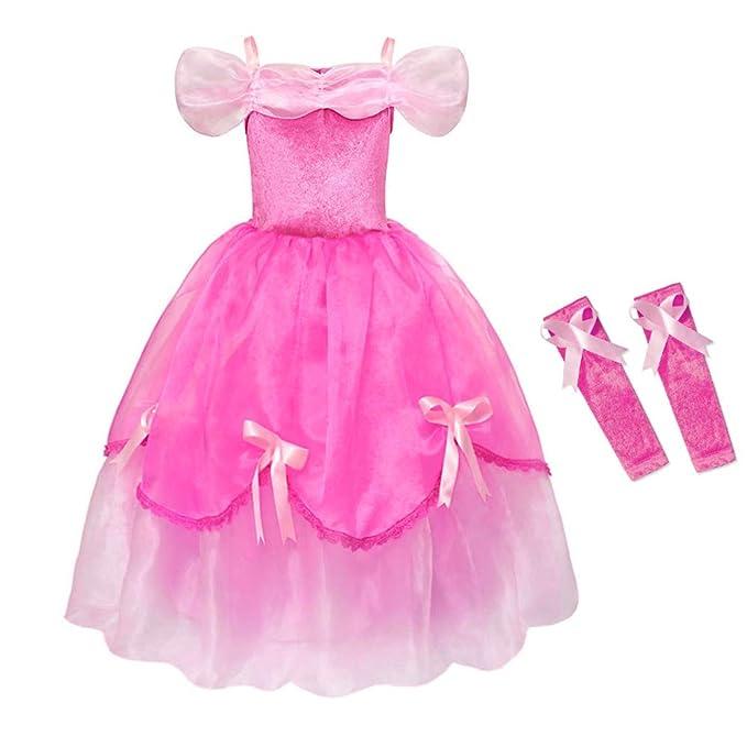Costumi Bambina Principessa Aurora La Bella Addormentata Vestito Carnevale  Halloween Tulle Diadema Cosplay Festa Nuziale Compleanno 1a60d95b6ae