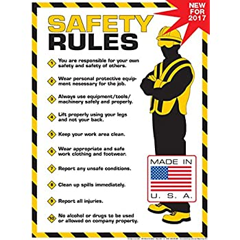 Workplace safety rules poster 18 x 24 poster for 3 kitchen safety rules