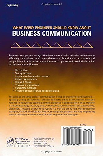 What Every Engineer Should Know About Business Communication by CRC Press
