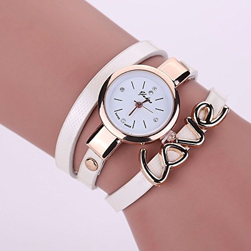 New Mens Watches, Leather Crystal Bracelet Ladies Quartz Analog Wrist Watch HOT, The precise surface decent watch is very charming for all occasions (Shipping faster than the time specified.) WHITE - Casio G Shock Aviator