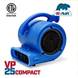 B-Air VP-25 1/4 HP Air Mover for Water Damage Restoration Carpet Dryer Floor Blower Fan Home and Plumbing Use, Blue