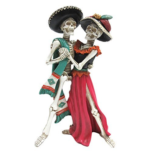 Pacific Giftware Day of the Dead Celebration Skeleton Couple Dancing Figurine 12 inch