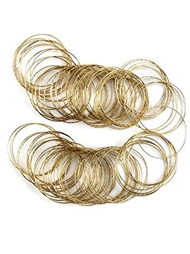 Forum Novelties Gold Bangles 50 Per Pack