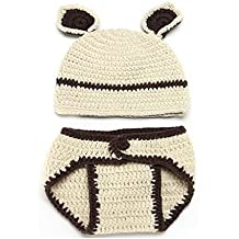 Amazing Baby Outfits,Dealzip Inc Baby Outfits Fashion Unisex Newborn Boy Girls Crochet Knitted Baby Outfits Costume Set Photography Photo Prop-Bear