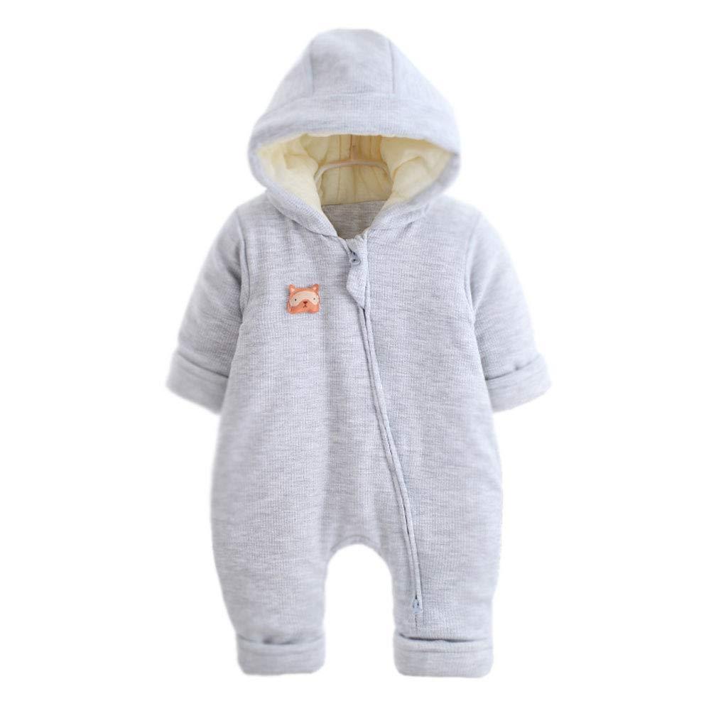 M& A Baby Girls Boys Winter Jumpsuit Snowsuit Warm Hooded Romper