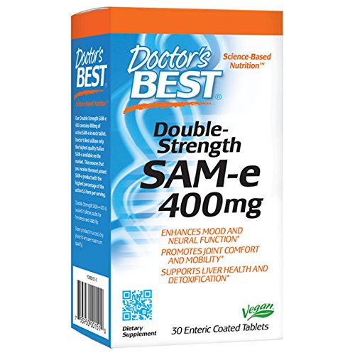 Doctor's Best SAMe 400 mg (Double Strength) 30 Enteric Coated Tablets
