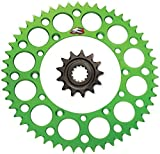 Renthal Grooved Front & Ultralight Rear Sprockets Kit - 14/50 GREEN - Kawasaki KX80, KX85, KX100