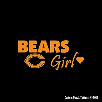 Amazoncom Chicago Bears Girl Car Window Decal Sticker Mini - Window stickers for cars chicago