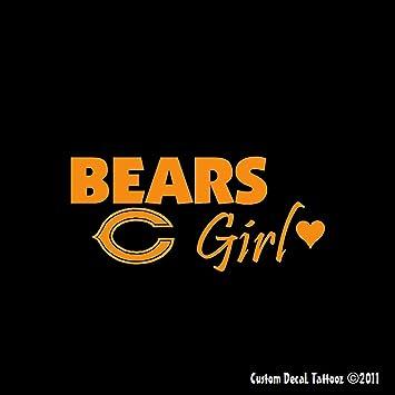 Amazoncom Chicago Bears Girl Car Window Decal Sticker Mini - Window stickers for cars chicago
