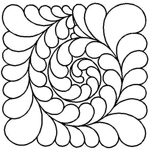 Quilting Creations Feather Swirl Quilt Stencil, 11""