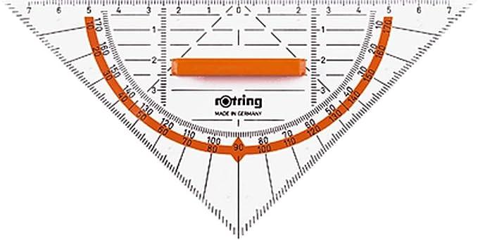 25 opinioni per Rotring S0903940, Centro Geometry squadra con impugnatura 16 cm