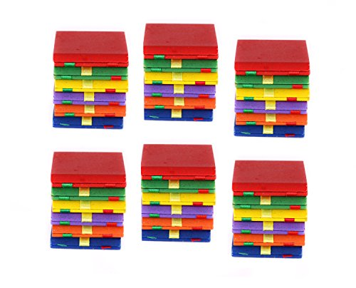 Jacobs Ladder - Pack Of 6 Classic Colorful Wooden Toy Ladders