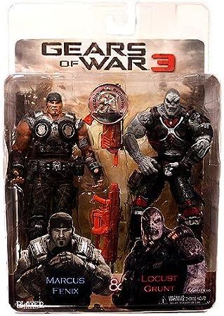 NECA Gears Of War 3 exclusivo figura de acción 2 Pack Marcus Fenix ...