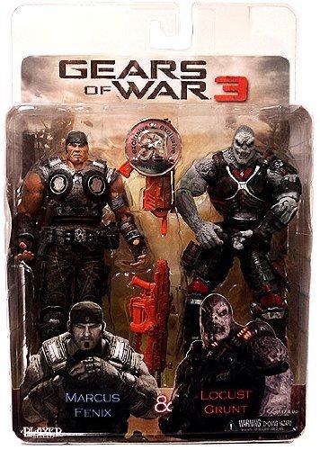 (NECA Gears of War 3 Exclusive Action Figure 2Pack Marcus Fenix Locust Grunt )