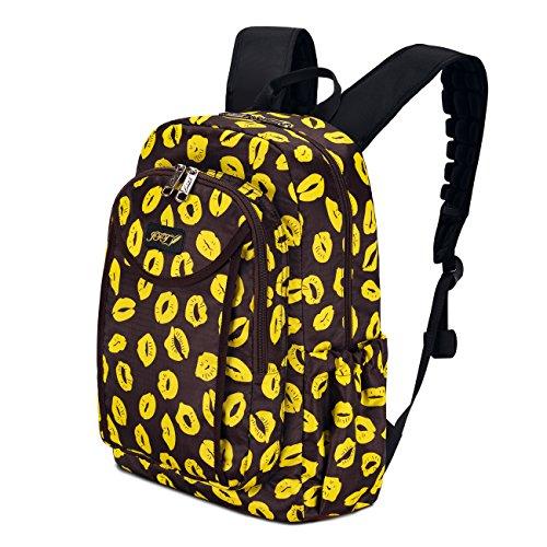 JFT - Bolso mochila  para mujer azul azul amarillo
