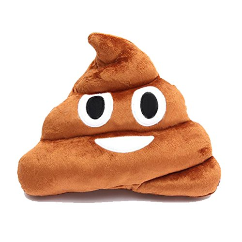 Funny Stuffed Pillow Cushion Emoji Poop Shaped Smiley Face D