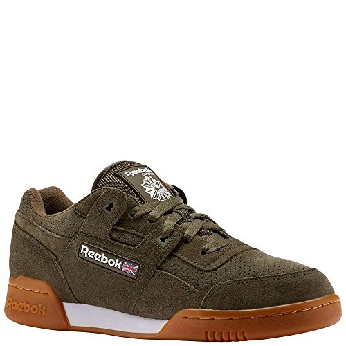 the best attitude d01b2 06865 Reebok Mens Workout Plus EG Fashion Sneakers Army GreenWhiteGum 11 D(