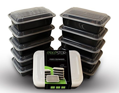 PrepStor Food Containers with Lids, Bento/Lunch Box. Freezer