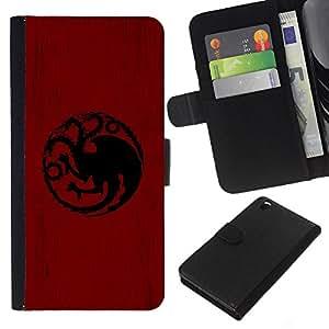 NEECELL GIFT forCITY // Billetera de cuero Caso Cubierta de protección Carcasa / Leather Wallet Case for HTC DESIRE 816 // Dragón Sigil Targaryen