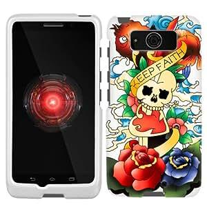 Motorola Droid Mini Keep Faith Skull on White Phone Case
