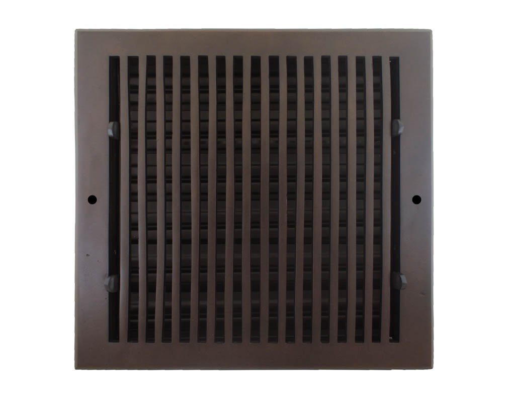 Hamilton Sinkler WVF-1010-BP Hamilton Sinkler Flat Wall Vent with Damper, 10 by 10-Inch, Bronze Patina